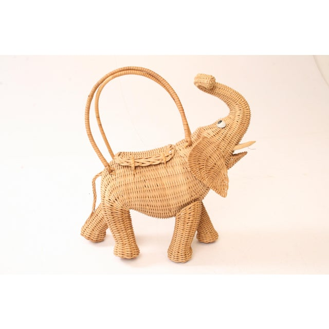 Vintage Wicker Figural Elephant Purse - Image 2 of 11