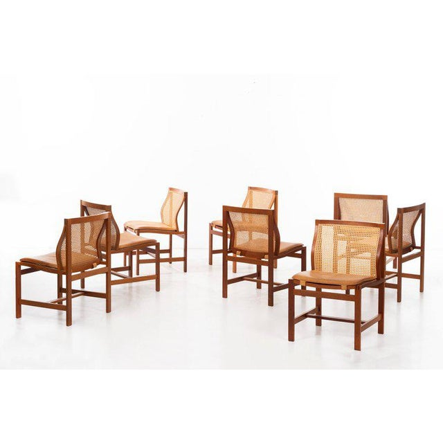 Rud Thygesen & Johnny Sorensen Set of 8 Dining Chairs For Sale - Image 12 of 13