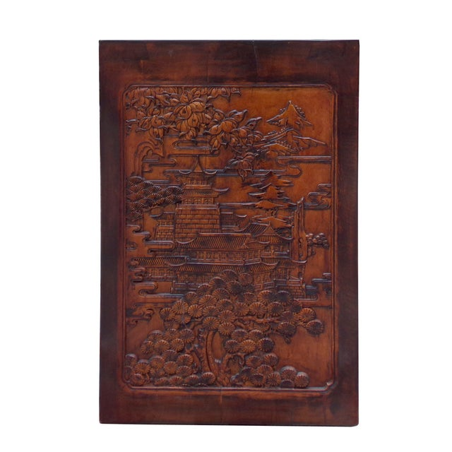 Relief dimensional carving console altar table chairish