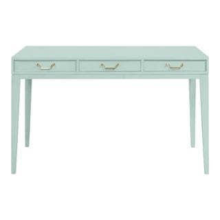 Casa Cosima Living Tilda Taper Leg Desk - Palladian Blue For Sale