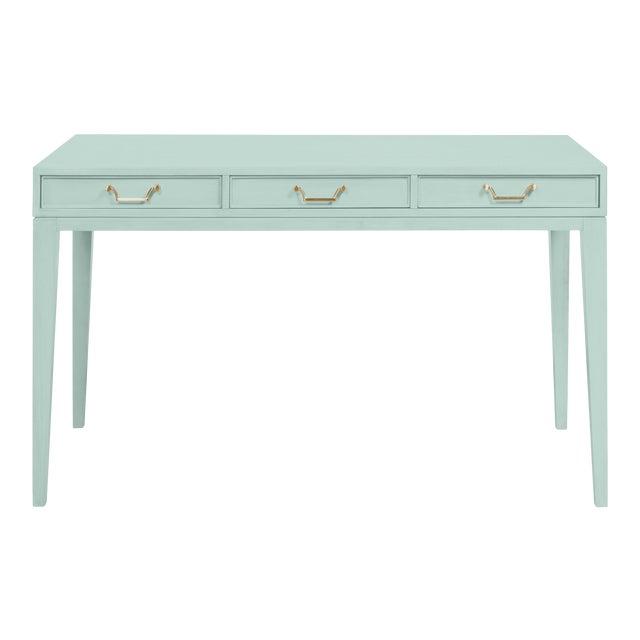 Casa Cosima Living Tilda Taper Leg Desk - Palladian Blue For Sale