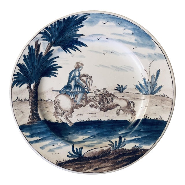 18th Century Niderviller Faience Plate For Sale