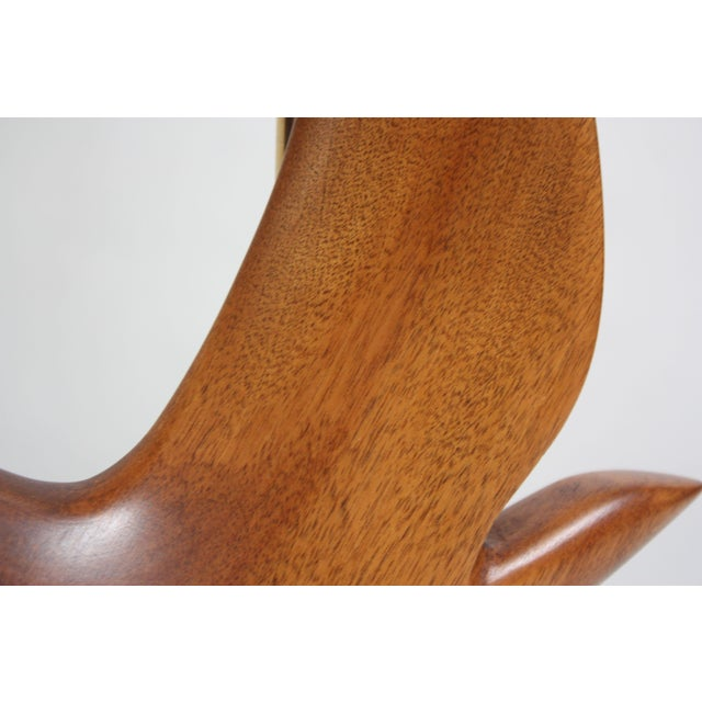 Maple and Mahogany 'Dove' Lamp by Clark Voorhees for Hansen For Sale - Image 10 of 12