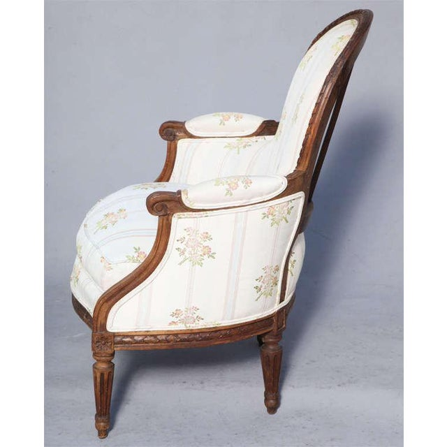Louis XVI Rare Pair of 18th Century. Child's Bergères Stamped Nadal-Laine For Sale - Image 3 of 10