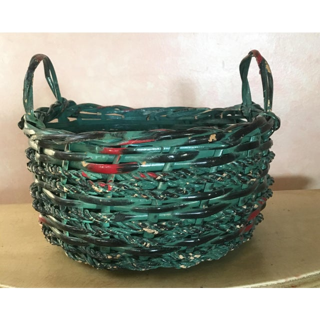 Painted Basket - Boho Chic - Image 2 of 4