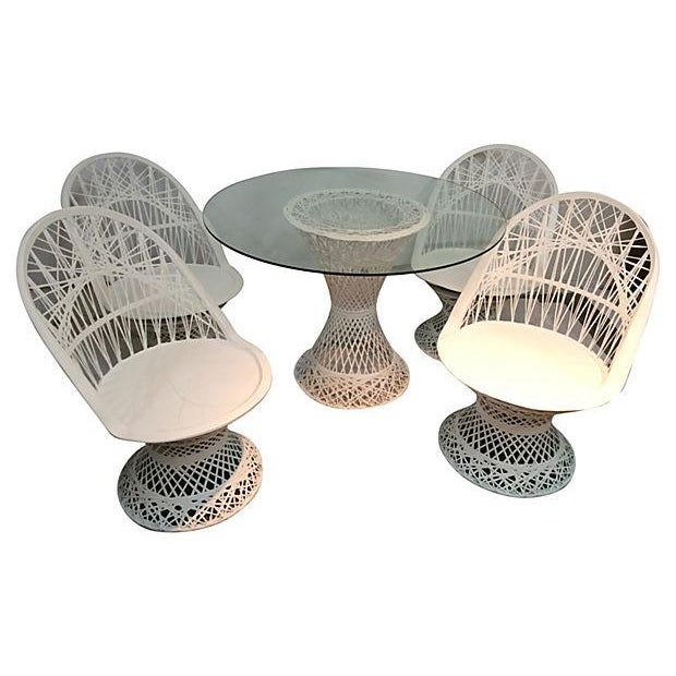White Spun Fiberglass Patio Set - Image 2 of 3