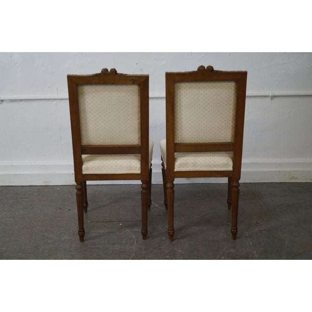Antique Louis XVI Walnut Side Chairs - A Pair - Image 3 of 10