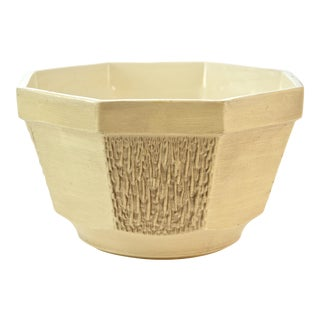McCoy Floraline Ivory Textured Planter For Sale