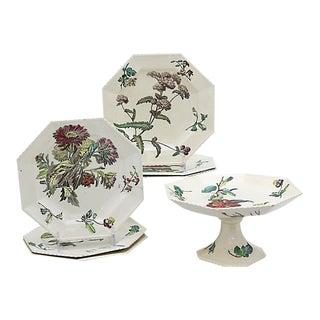 Antique Copeland Creamware Set, 7 Pieces For Sale