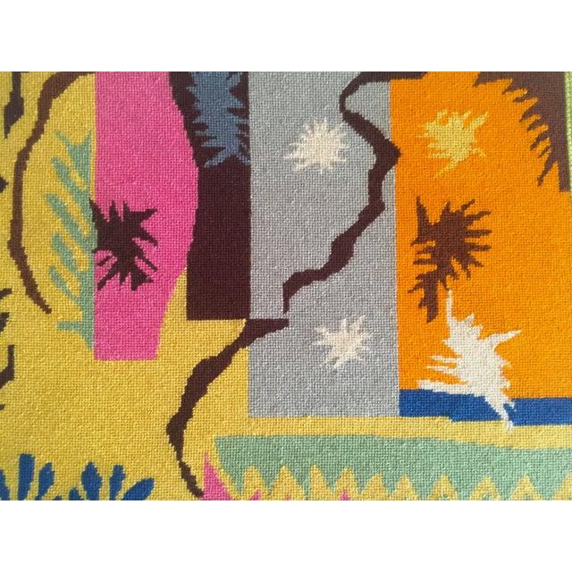 "Henri Matisse Vintage Mid Century Modern Henri Matisse ""Cut Outs"" Framed Hand Needlepoint Art For Sale - Image 4 of 10"