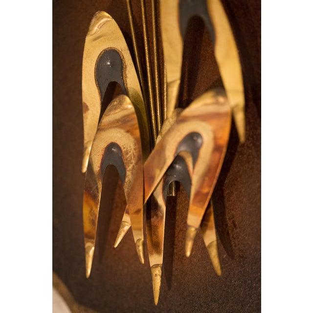 Mid Century Wood Metal Cattail Reed Wall Art - a Pair | Chairish