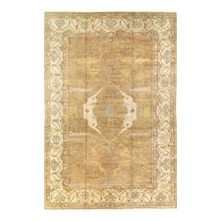 Pasargad Light Brown Fine Hand Knotted Oushak Rug 12' X 18' For Sale