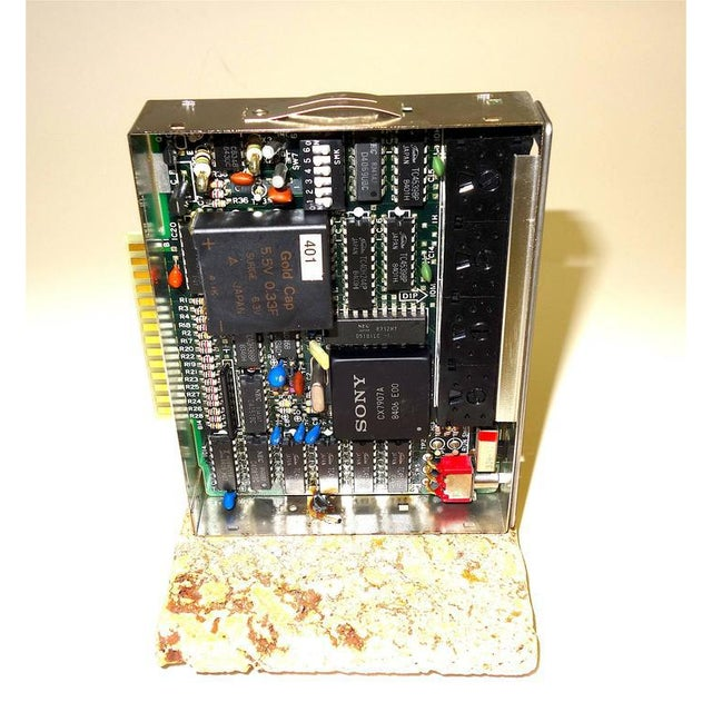 1960s Sony Circa Mid-20th Century Television Time Code Circuit Board on Stone For Sale - Image 5 of 7