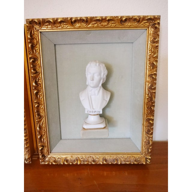 Framed Bust Portraits of Classical Composers - Set of 3 For Sale - Image 12 of 13