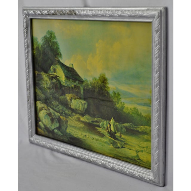 Early 20th Century Vintage Framed Landscape Print by Muller For Sale - Image 5 of 12