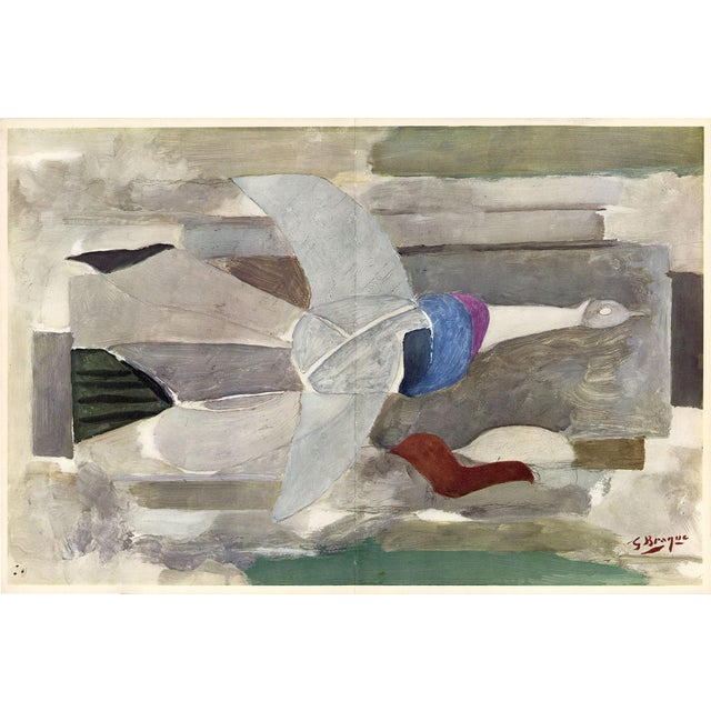 """1950s """"The Spirited Dove"""" by Georges Braque, Original Lithograph From """"Verve No. 31-32"""" (1955) For Sale - Image 5 of 5"""