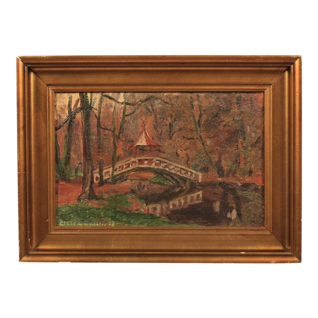 Chinese Bridge by Clemmen Clemmensen, 1928 For Sale