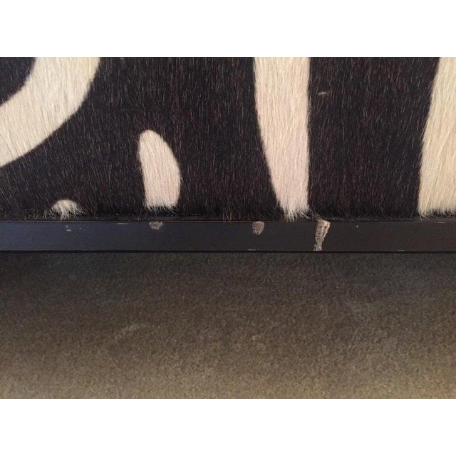 Edelman Leather Zebra Printed Bench - Image 4 of 5