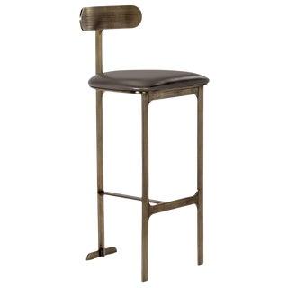 Hollis Bar Stool - Grey/ Bronze For Sale