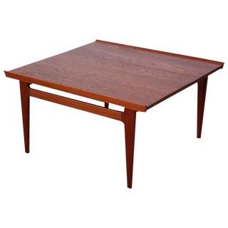 1950s Early Finn Juhl for France and Daverkosen Teak Coffee Table For Sale