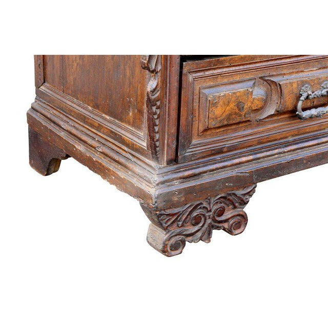 Wood Impressive Italian Baroque Walnut and Burl Walnut Commode For Sale - Image 7 of 12