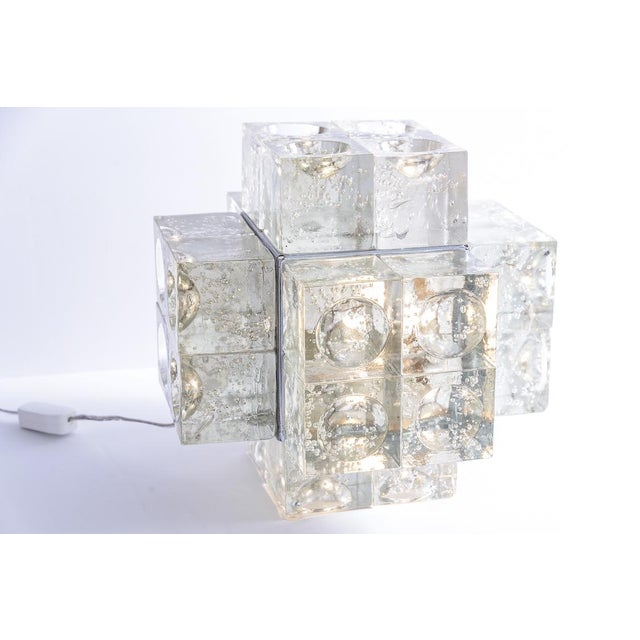 Fabulous and very rare Murano Glass Italian Mid-century Table Lamp by Albano Poli for Poliarte, 1960s. Great condition,...