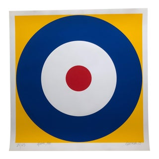1975 Pop Art Chuck Smith Upavon Navy Insignia Silkscreen For Sale
