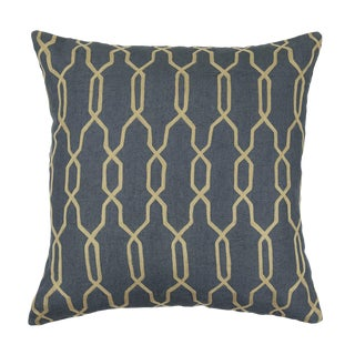 Contemporary Tr Essentials Grey Embroidered Geometric Pillow - 22x22 For Sale