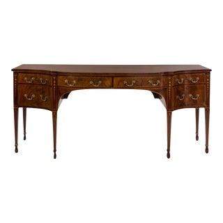 George III Mahogany and Satinwood Inlaid Sideboard For Sale