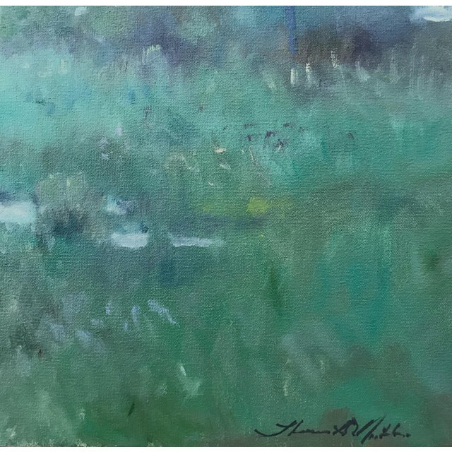 """Thomas McNickle """"Elm in the Rain"""" Contemporary Traditional Landscape Oil Painting For Sale In New York - Image 6 of 10"""