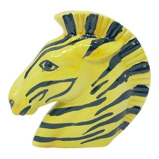 1950's Mid-Century Modern Zebra Head Wall Vase For Sale