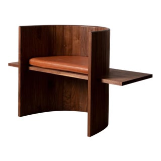 Campagna Sit Chair in Walnut For Sale