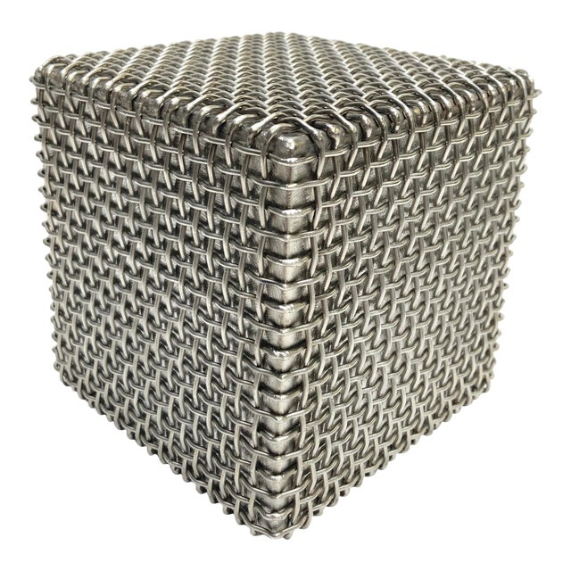 Modern Metal Cube Sculpture by Larry Lubow For Sale