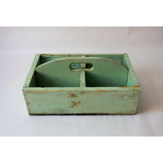 1940s Shabby Chic Mint Green Berry Basket Preview