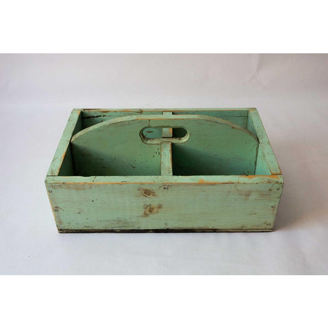 Traditional berry basket in a beautiful unique shade of mint green. Perfect for organizing kitchen utensils, or in the...
