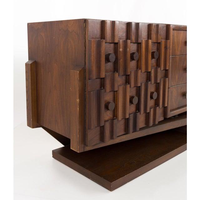 Paul Evans 20th Century Brutalist Pedestal Lowboy Dresser For Sale - Image 4 of 12