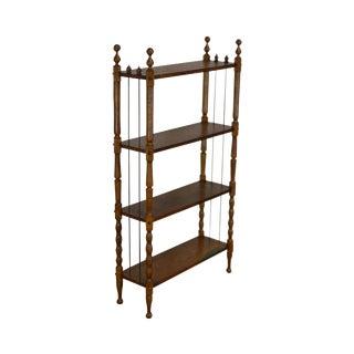 Antique Victorian Oak 4 Tier Open Bookcase Book Shelf For Sale