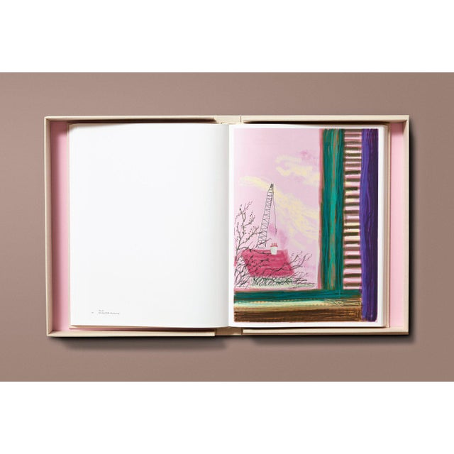 """Canvas TASCHEN Books Autographed David Hockney """"My Window"""" Painting Collection, Collectors Edition For Sale - Image 7 of 8"""