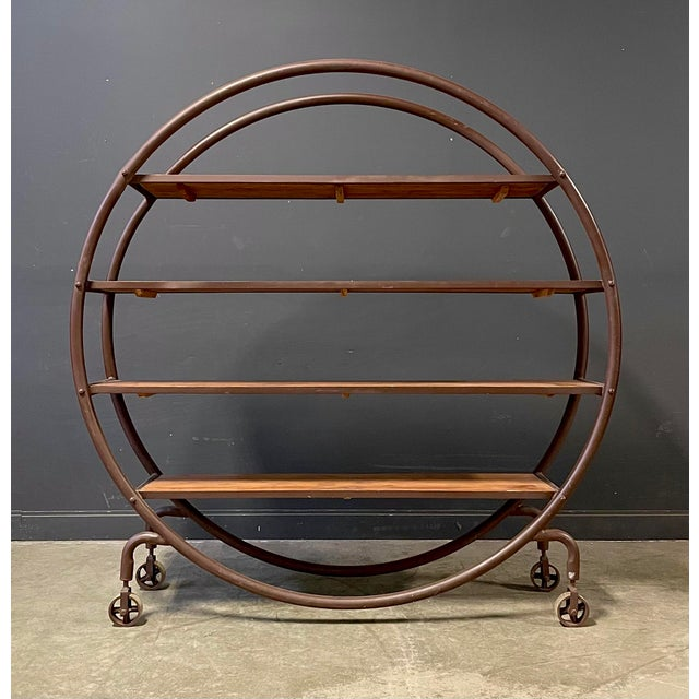 Sienna Antique Round Book Shelf For Sale - Image 8 of 8