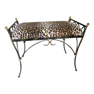 Vintage Wrought Iron Bench For Sale
