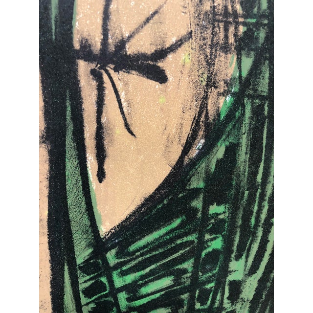 Jerry Opper Jerry Opper Mid Century Bay Area Abstract Expressionism in Greens For Sale - Image 4 of 5