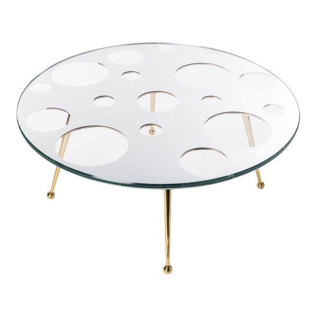 Gold Holy Mirror Coffee Table by Artist Troy Smith - Contemporary Design - Artist Proof - Custom Furniture For Sale - Image 8 of 8
