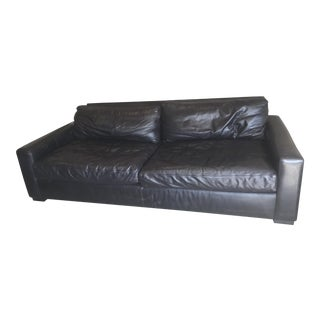 Restoration Hardware Maxwell Ebony Sofa