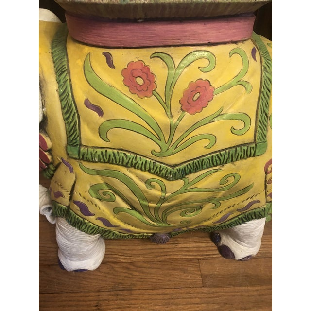 Yellow 1960s Elephant Garden Stool For Sale - Image 8 of 12