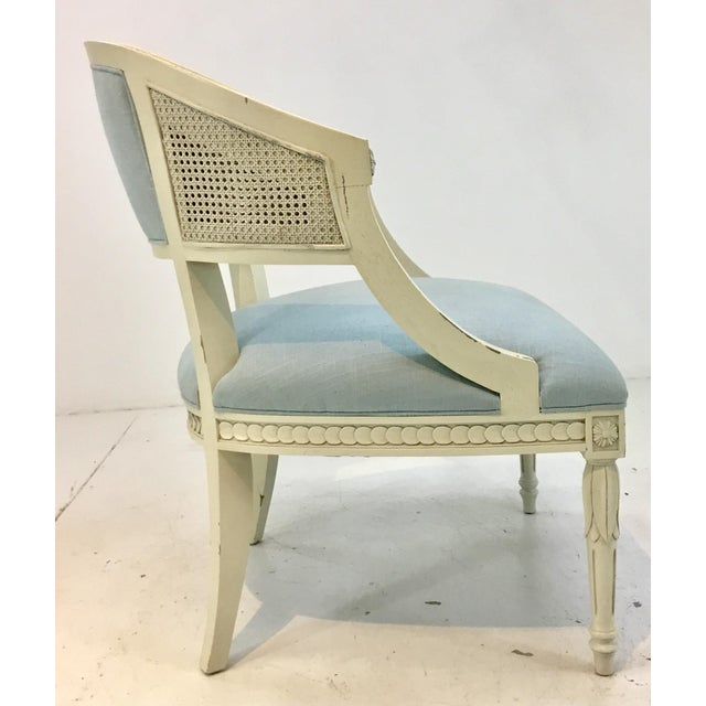 Hickory Chair Transitional Le Clerc Ivory Cane Chairs Pair For Sale In Atlanta - Image 6 of 8