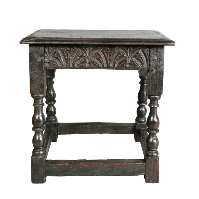 Jacobean Jacobean Oak Joint Stool For Sale - Image 3 of 10