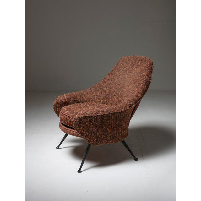 Martingala lounge chair by Marco Zanuso for Arflex. Rare version with detachable backrest. Also available a second chair...