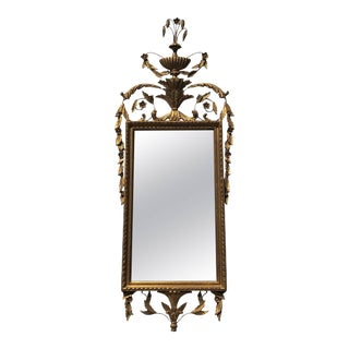 Labarge Attributed Gold Leafed Hollywood Regency Wall Mirror For Sale