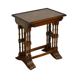Bevan Funnell Nesting Set of 3 Burl Wood Tables