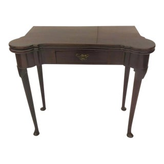 English Mahogany Queen Anne Pad Foot Table Side Table For Sale